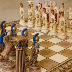 4 Way Chess Online 1968 Vw Beetle Wiring Diagram Ceramic Handmade Set Greek Gods Of Olympus Big