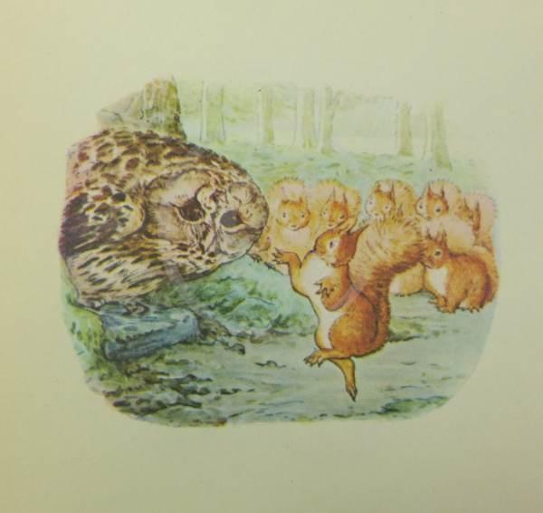 Beatrix Potter Book Plate Illustration Squirrel