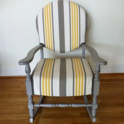 Yellow Rocking Chair Ergonomic Repair Vintage And Gray