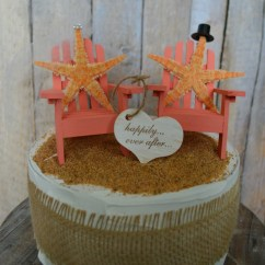 Adirondack Chair Cake Topper Wedding Hire Hamilton Nz Starfish Beach