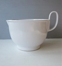 Vintage White Dansk Melamine Mixing 3 Quart Bowl with Handle