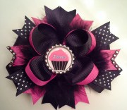 personalized hair bow girls
