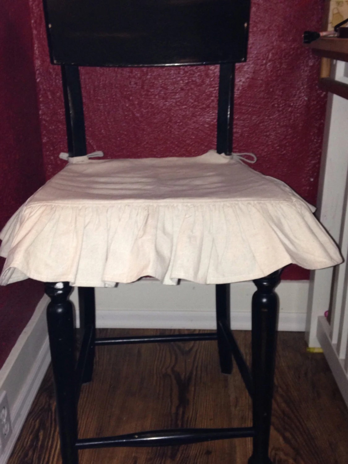 fall chair covers motorized chairs for elderly drop cloth seat cover set of 8 w o back ruffle and