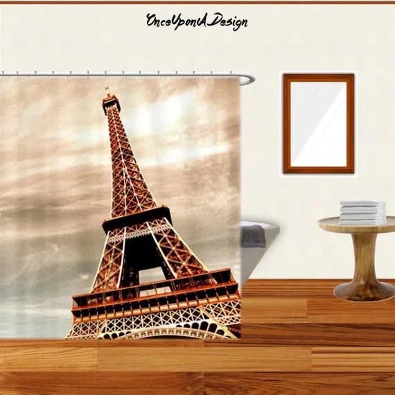 Items similar to Beautiful Eiffel Tower Shower Curtain