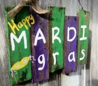 Mardi Gras Decor Door Decor Mardi Gras Sign by PaePaesPlace