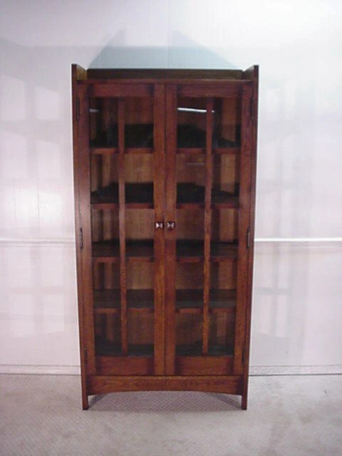 Solid Oak Mission Style China Cabinet