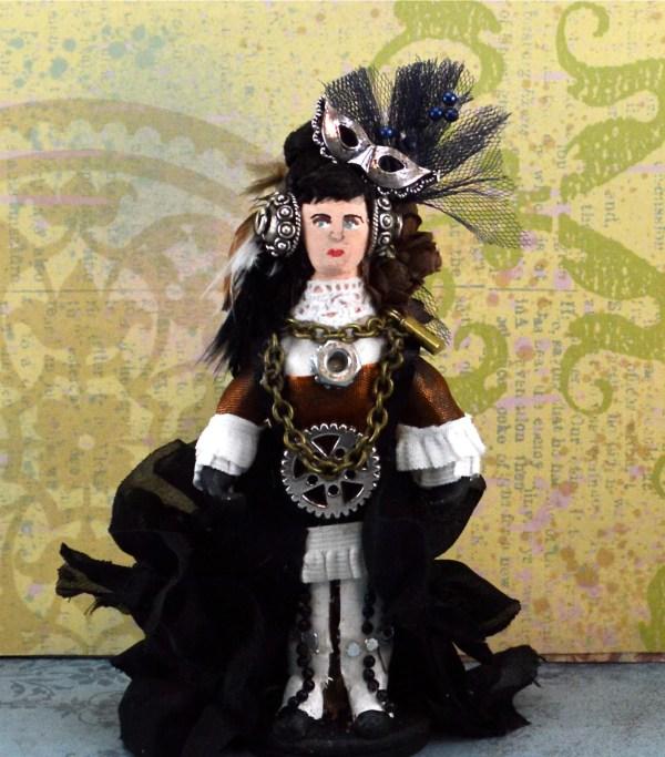 Steampunk Victorian Art Doll Miniature Annabelle Lee