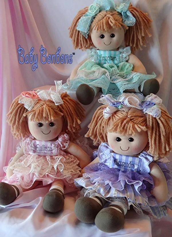 Personalized Baby Rag Easter Basket Doll Dressed In Vintage