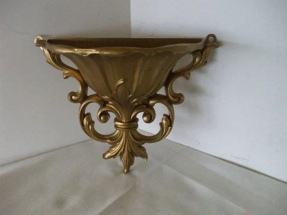 Dart Vintage Gold Wall Sconce Planter by OneVintageVagabond