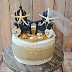 Adirondack Chair Cake Topper Pool Lounge Replacement Fabric Starfish Wedding Chairs Wood