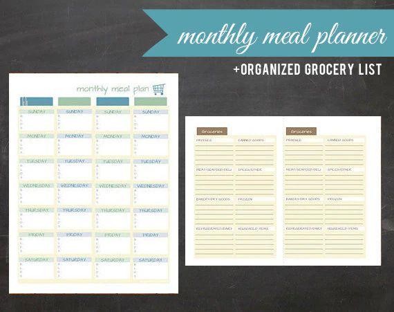 dinner calendar printable