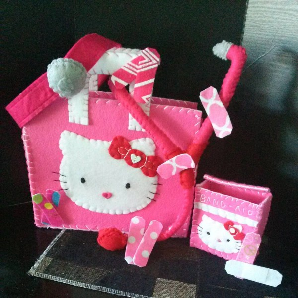 Children' Playtime Kitty Doctor Bag Band Aid Box