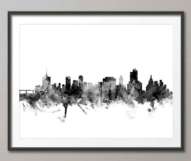 Austin Skyline Austin Texas Cityscape Art Print 563