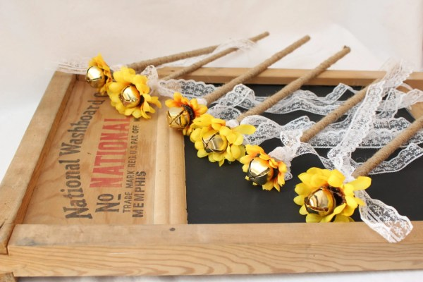 Rustic Wedding Favors Sunflower Kissing