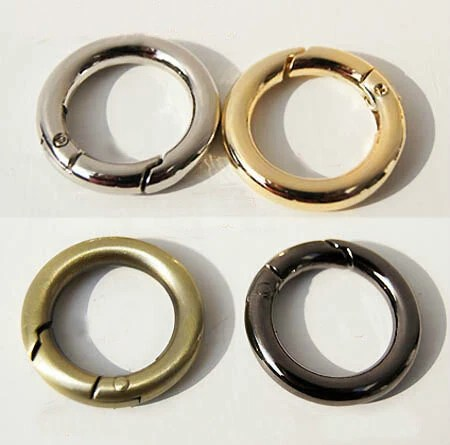 2pcs Spring Jump Rings For Bags ClaspsO Ring Connector