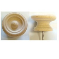 2 USA Made Fancy Hard Wood Cabinet Pulls / Drawer