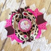 thanksgiving hair bow pink