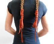 leather braid wraps with fringe