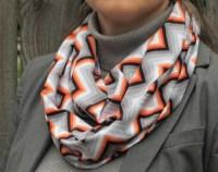 Tangerine knit scarf | Etsy