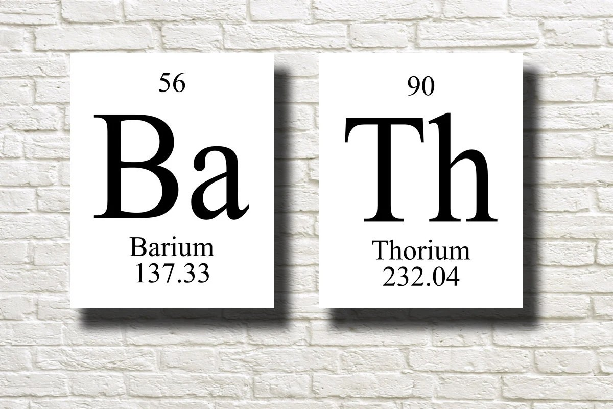 Items Similar To BATH Periodic Table Elements Black White