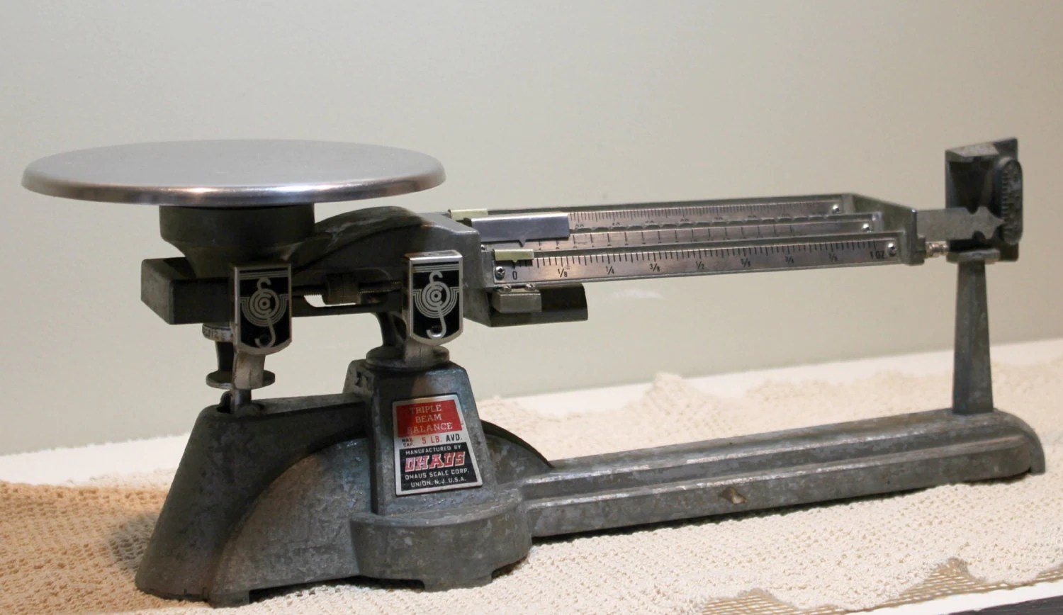 Vintage Ohaus Triple Beam Balance Scale By