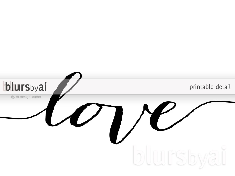 Love never fails set of 3 black and white printables. Digital