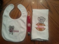 Alabama baby bibs and burp cloth set by MEMAWSEW on Etsy