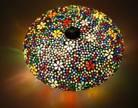 Mosaic ceiling light  25 cm / 9.8 in multi colour by ...