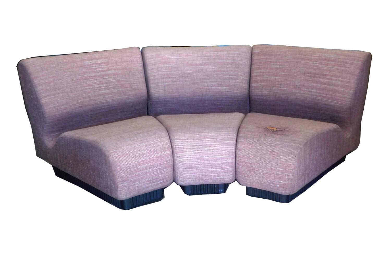 Herman miller mid century modern tweed sectional 3 piece for Mid century 3 piece sectional sofa