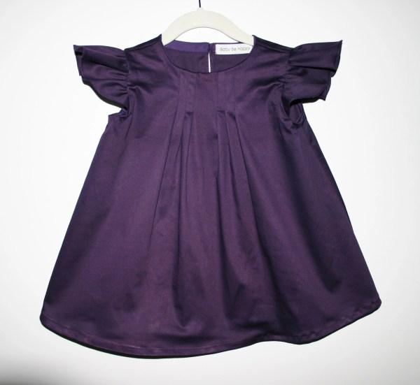 Purple Toddler Dress Flutter Sleeve Baby