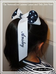 personalized hair bow school