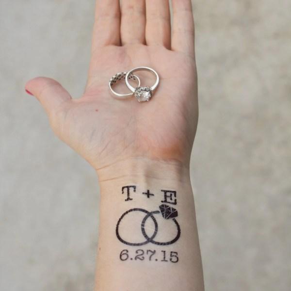 custom wedding temporary tattoos