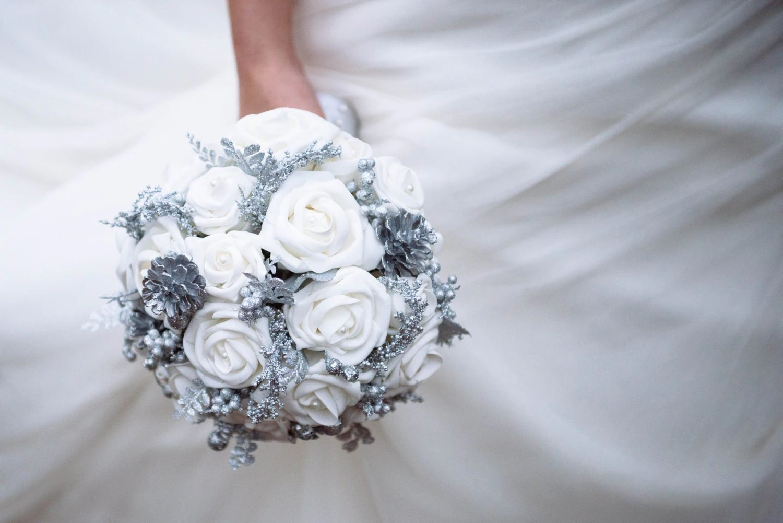 Winter Wedding Bouquet Winter Wonderland Wedding Bouquet