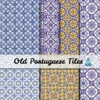 Portuguese old tiles Scrapbooking Digital Scrap Paper by ...