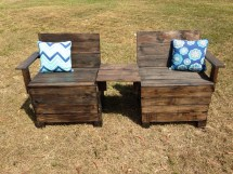 Patio Bench Pallet Reclaimed Wood Recycled