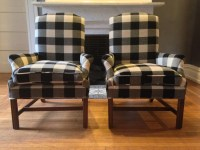 Buffalo Check Arm Chairs