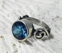 London Blue Topaz Ring Gemstone Alternative by FantaSeaJewelry
