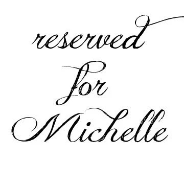 Winter wedding invitations reserved for Michelle