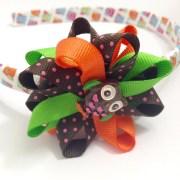 owl hair bow thanksgiving headband