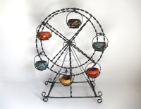 Mid Century Wrought Iron Mexican Outdoor Flower Pot Spinning