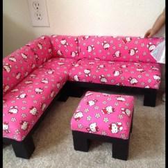Hello Kitty Desk Chair Mongolian Fur Cushion Print Sectional Sofa Furniture Set With By Crixina