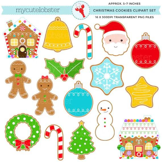 christmas cookies clipart set clip