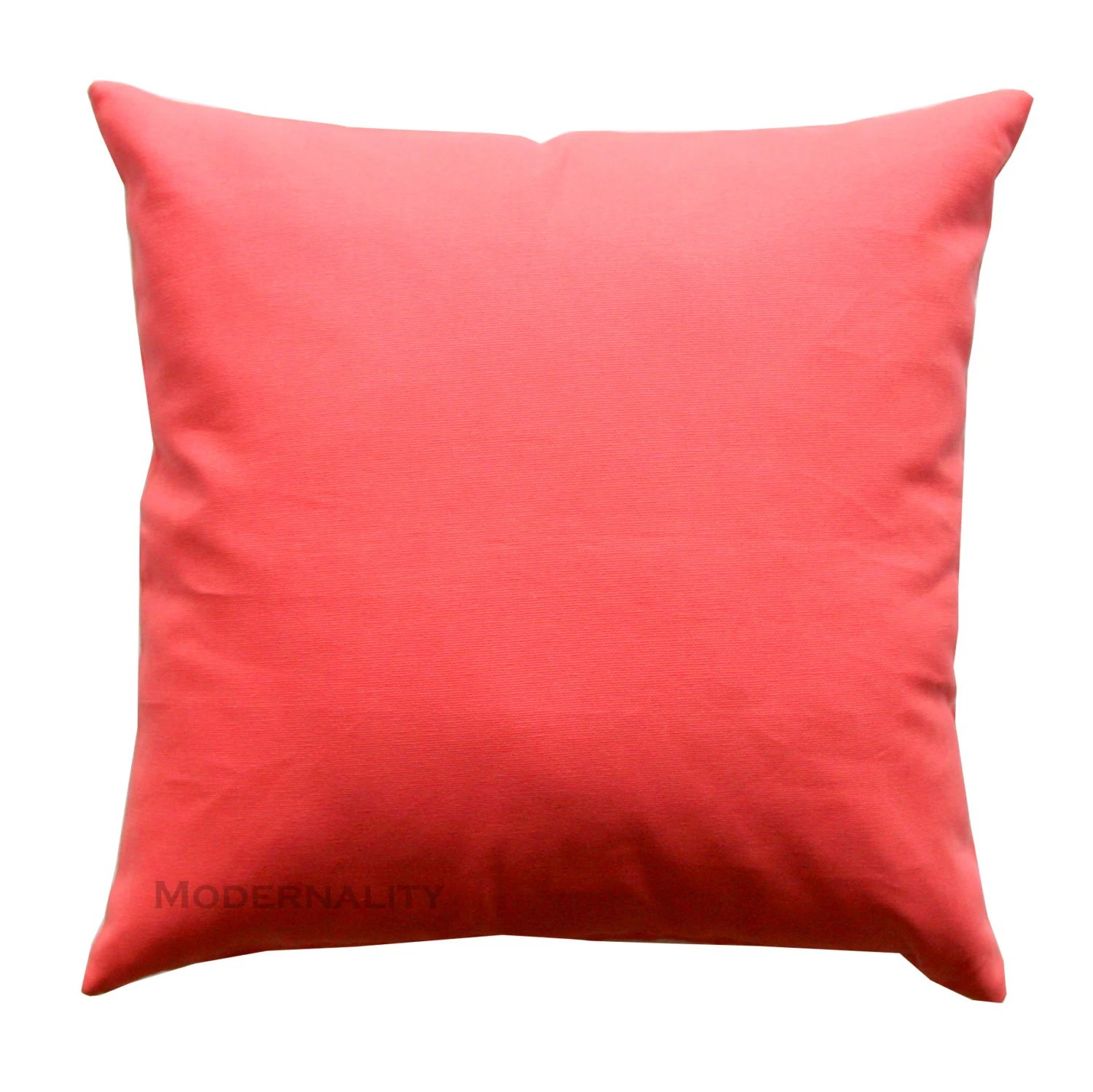 Accent Pillows Solid Coral Pillow Cover All Sizes Zippered