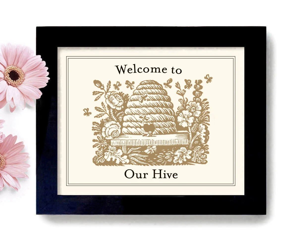 Bee Welcome Sign Etsy