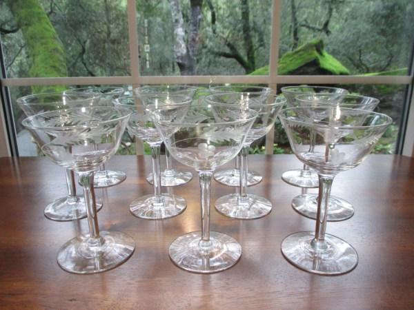 Vintage Princess House Crystal Champagne Glasses Heritage