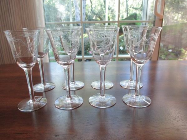 Vintage Princess House Crystal Sherry Glasses Heritage Set