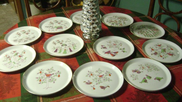 Shenango China 12 Days Of Christmas 10 Collector Plates