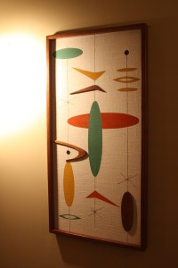 Mid Century Modern Witco Madmen Atomic Abstract Wall Art