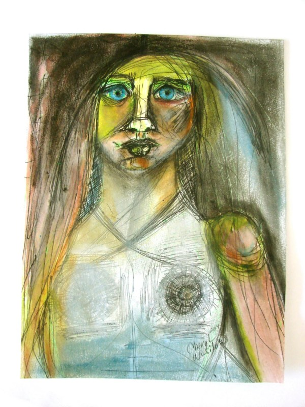 Abstract Art Original Painting Woman Portrait Female Modern