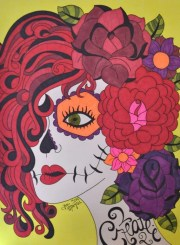 sugar skull girl art day of